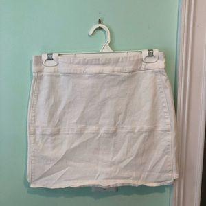 White mini skirt from Forever 21!